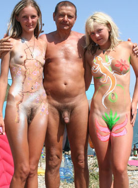 Exciting hairy pussy young naturists on the beach