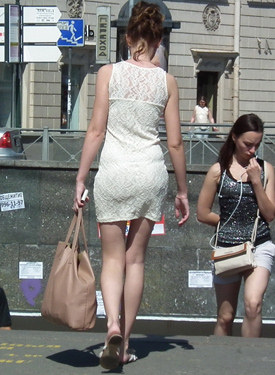 Candid girls dressing exciting perfect asses tight and sexy