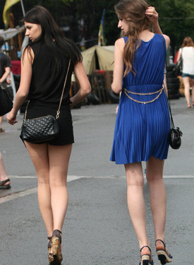Hot candid street beauties