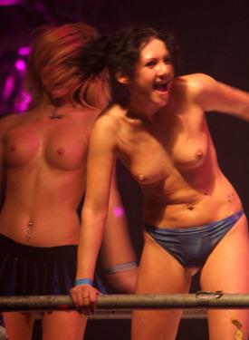 Dancing hotties in night club